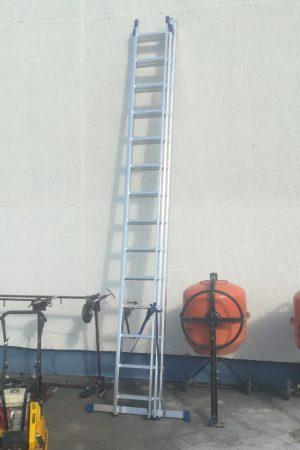 Лестница алюминиевая 3-х секционная в аренду